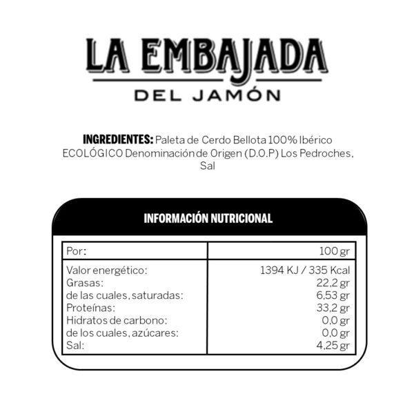 ingredientes paleta bellota ecologica